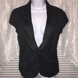 Vanity Black Cap Sleeve Vest